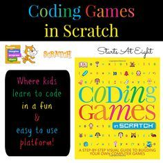 Coding Games In Scratch is an easy & fun way for kids to learn to code. It's a FREE online program that uses code blocks to build animations, games, & more!