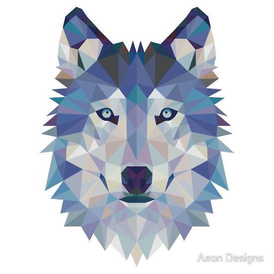 Geometric Wolf by Aeon Designs