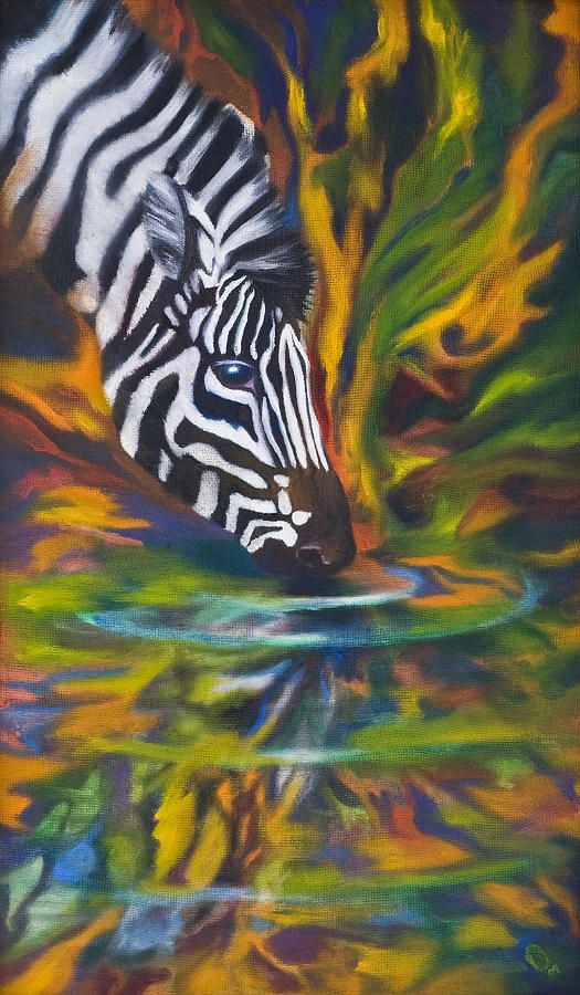 Zebra Painting by Kd Neeley - Zebra Fine Art Prints and Posters for Sale