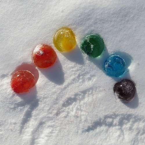 Boules gelées pour décorer !