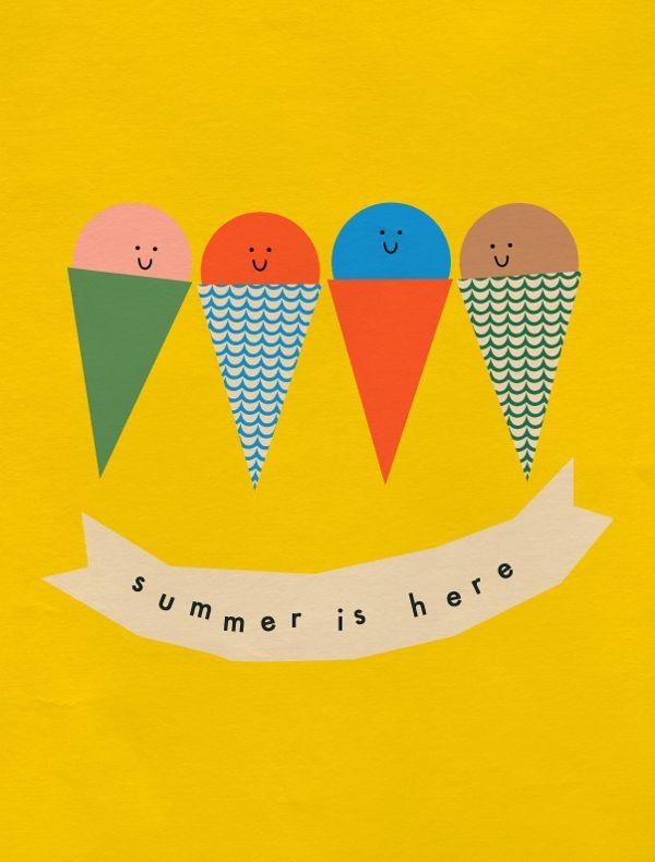 Festive Summer by Anna Kövecses, via Behance