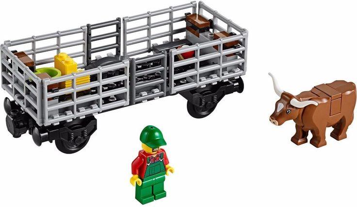 LEGO Cattle Car + Minifigures 60052/60098/7939/3677 from City Blue Cargo Train  #LEGO