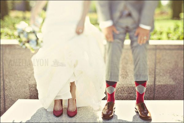 colorful wedding shoes, fun colored wedding shoes, wedding shoe inspiration, fun groom wedding socks, red wedding shoes, grey groom suit
