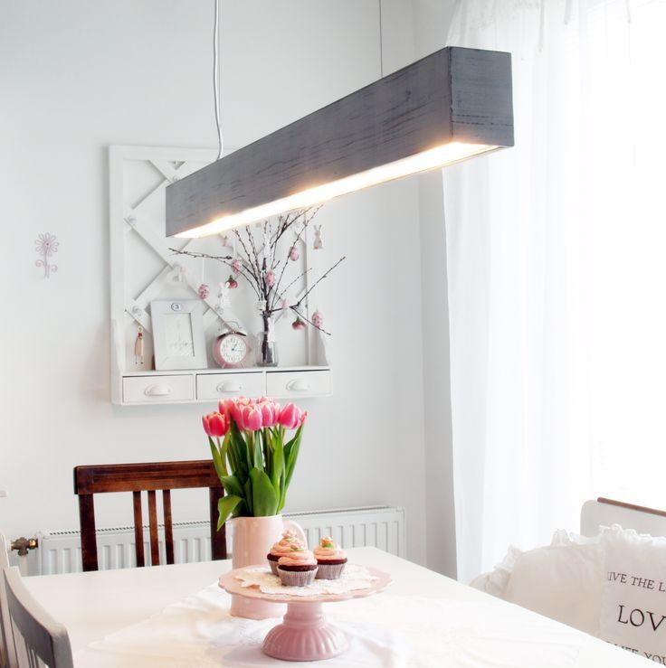 Hangeleuchte The Shabby White Aus Massivem Holz Lignalux Design Pendant LampsSolid