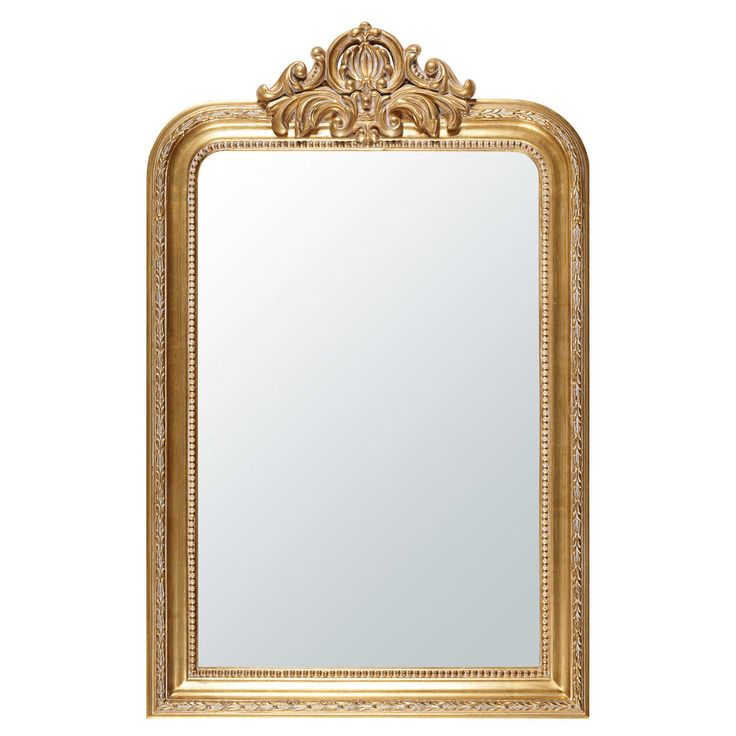 Big mirrors for small spaces | Mirror with gold mouldings 77 x 120 cm ALTESSE | Maisons du Monde