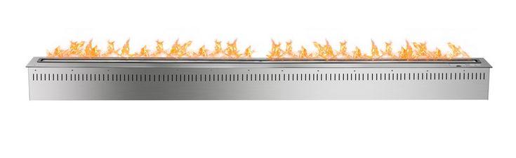 72 pulgadas wifi inteligente plata pared de chimeneas de bioetanol