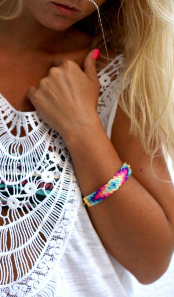 Neon bracelet.