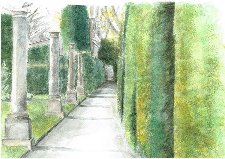 ARTFINDER: Pathway by Ally Tate -  Indulge in that childhood curiosity that makes you want to run down paths and hide in the trees. This picture is trying to create curiosity, include the vie...