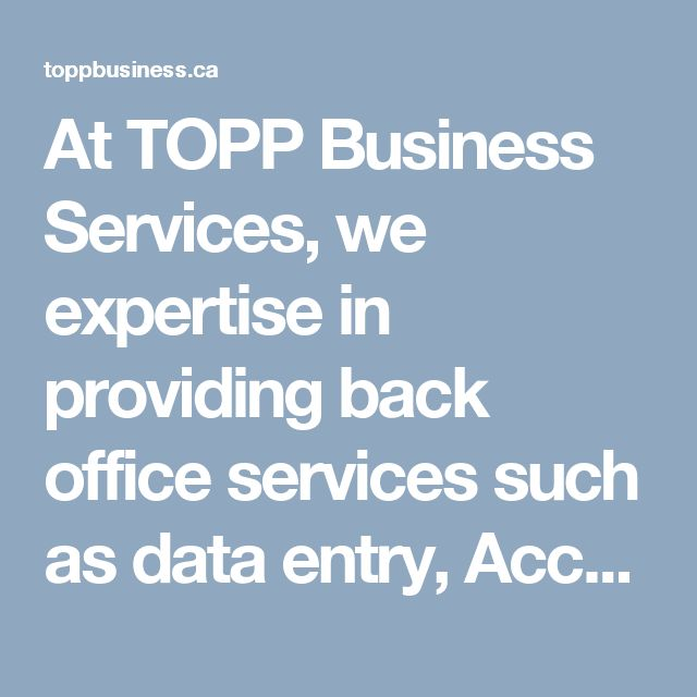 At TOPP Business Services, we expertise in providing back office services such as data entry, Accounts Payable/Accounts Receivable, Invoicing, GST & PST Filing & Remittance & bookkeeping. Know more about our services,   Visit: https://toppbusiness.ca/services or  Call: (306) 700-4447  #Bookkeepingservice #Toppbusinessservices