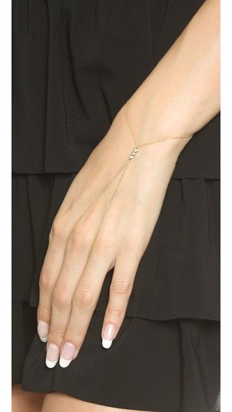 Jacquie Aiche Цепочка на руку с тремя камнями