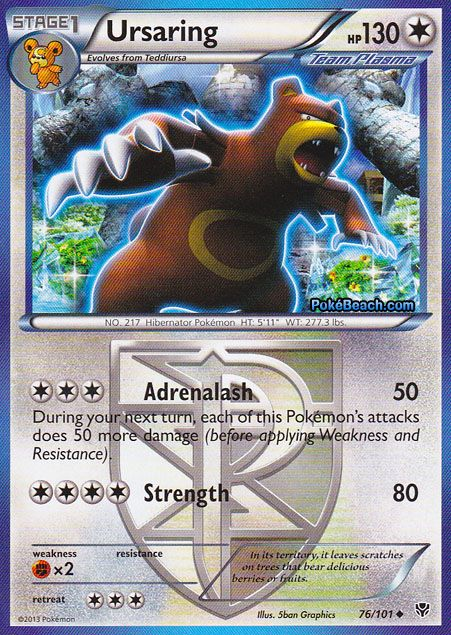 76 101 Ursaring Hp 130 Pokemon Cards Ex And X Pinterest Pokemon Cards And Pok 233 Mon