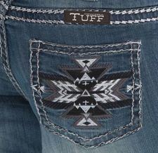 $20 OFF Silver Aztec Cowgirl Tuff Jeans