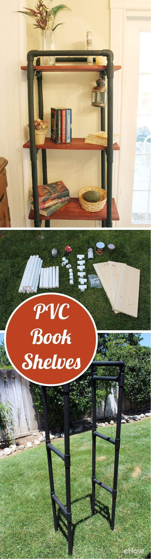 How to Make PVC Book Shelves 121