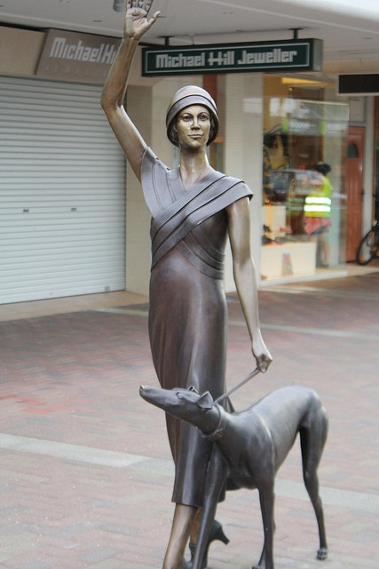 statue of girl with greyhound, Napier NZ by annieb, via Flickr  Love this.