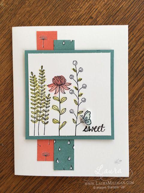 """Laura Milligan, Stampin' Up! Demonstrator - I'd Rather """"Bee"""" Stampin!: Stamper's Dozen Blog Hop - Let's Sale-a-brate! SU - Flowering Fields stamp set - SAB"""