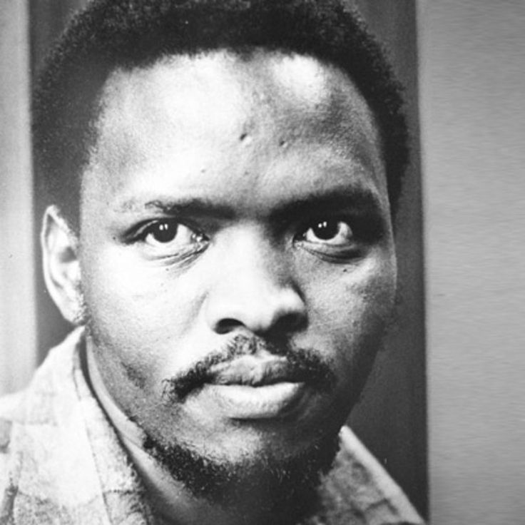 Steve Biko spearheaded the Black Consciousness Movement in South Africa. He died in 1977, from injuries sustained while in police custody. Learn more at Biography.com.