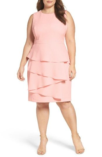 Cascade Crepe Sheath Dress (Plus Size) at Nordstrom.com. This flattering sheath boasts the best of two worlds: the ruffle detail adds exceptional flutter to the front without compromising the smooth, sleek pencil silhouette.