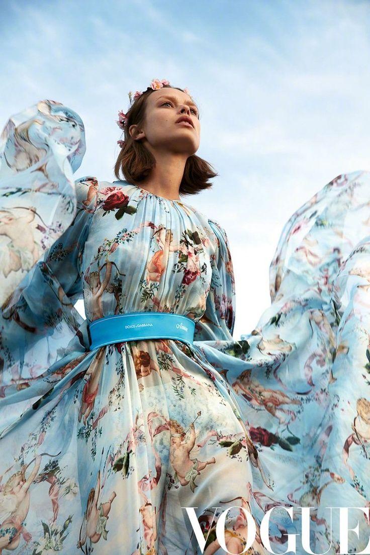 Birgit Kos | Dreamy Dress Editorial | Vogue China