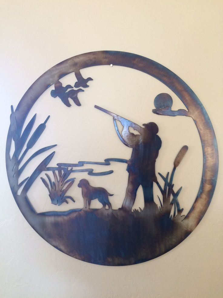 Duck Hunting Scene Metal Wall Art Decor