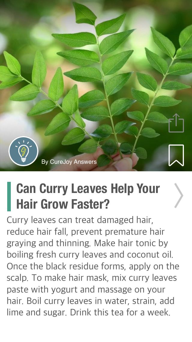 Can Curry Leaves Help Your Hair Grow Faster? - via @CureJoy