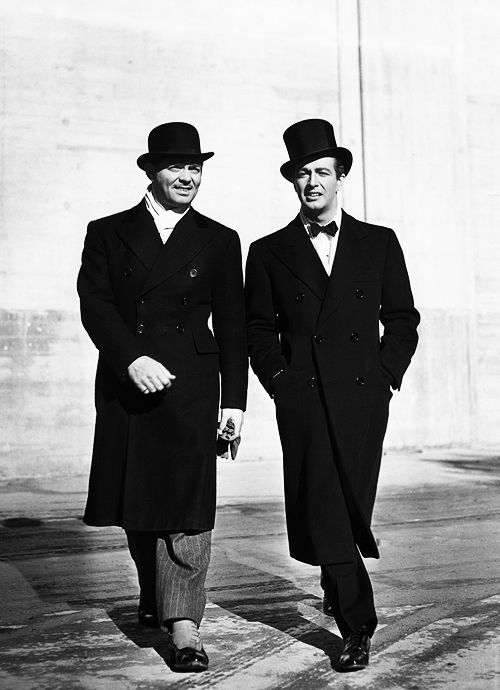 Clark Gable & Robert Taylor, 1940.