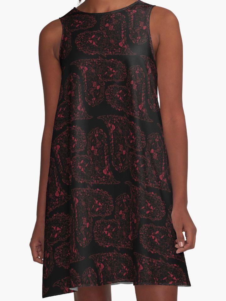 """Red Love Heart"" #dress  by MaksciaMind  #dresses #fashion #style #heart #love #vestito #abito"