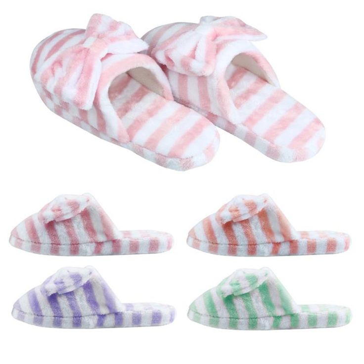>> Click to Buy << Warm Indoor Bowknot Women Soft Winter Slippers Cotton Slippers Home Anti-slip shoes woman unicorn slippers pantuflas mujer #Affiliate