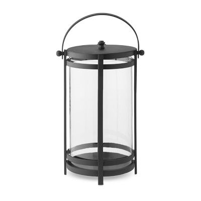 Bridgehampton Outdoor Lantern, Polished Nickel Small