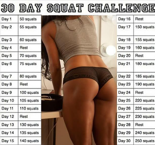 ... Squat Challenge on Pinterest | 30 Day Squat, Squat Challenge and