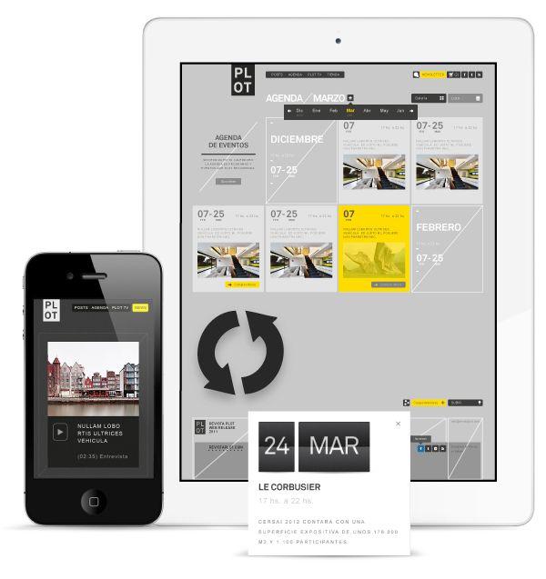 PLOT Architecture culture magazine portal by DHNN Creative Agency , via Behance  http://www.behance.net/gallery/PLOT-Architecture-culture-magazine-portal/6609961