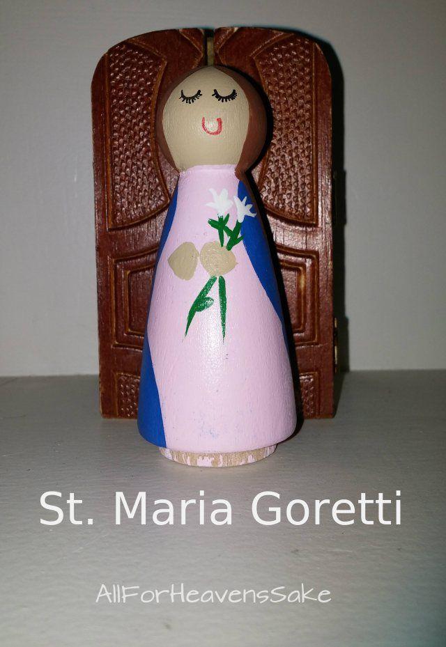 St Maria Goretti peg doll