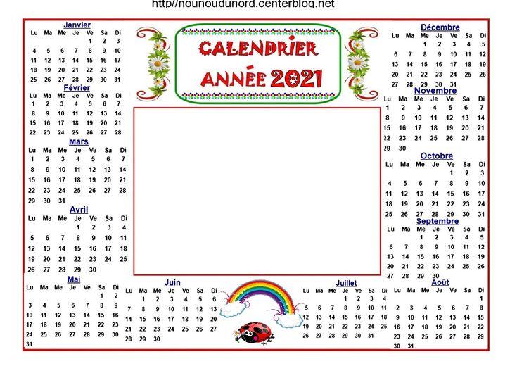 calendrier 2021 en 2020 | Calendrier, Coloriage, Activité manuelle