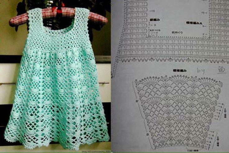 vestidos bebe niña crochet (2)