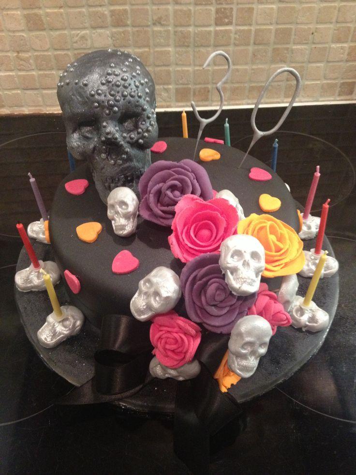 Happy Birthday Ashley Cake Skulls