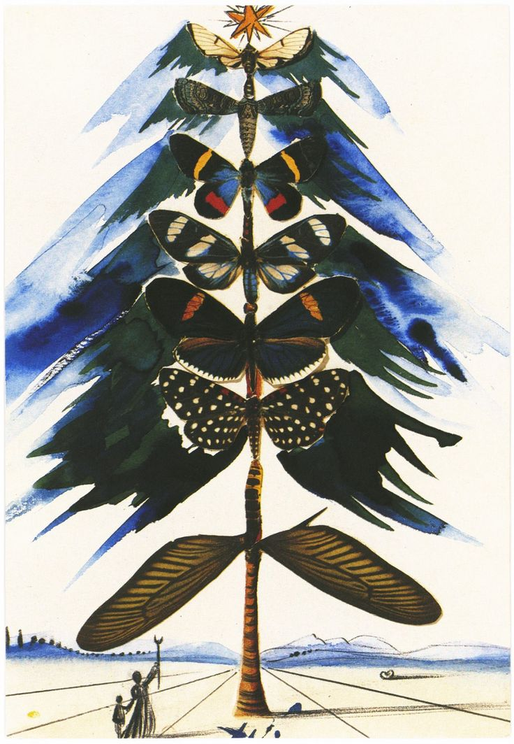 One of Salvador Dali's christmas cards