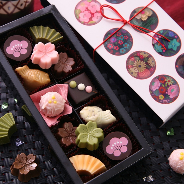 Japanese motif chocolate. 墨花~SUMIKA~チョコレート