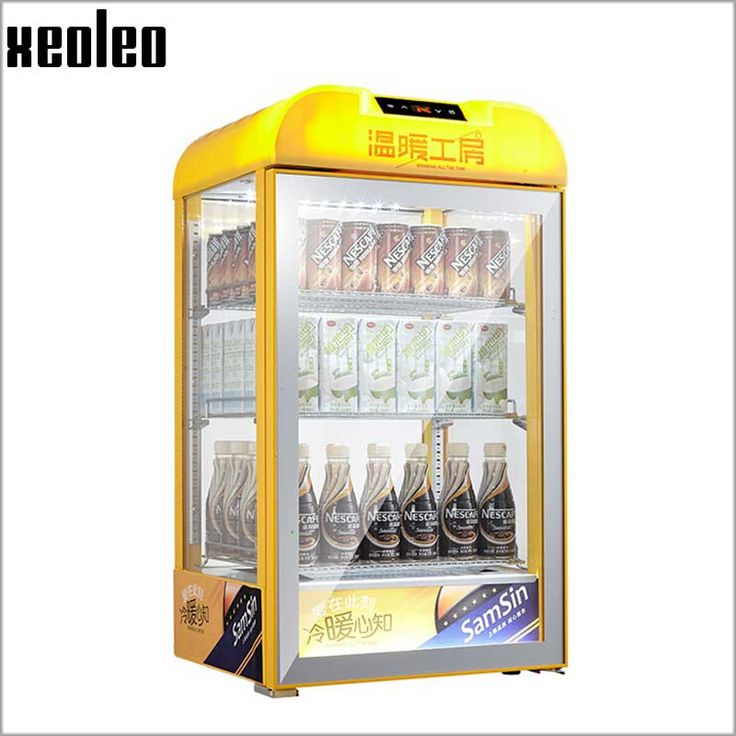 Xeoleo Drinks heated cabinet 65L Food warmer showcase 25-60 degree heat preservation Display Drink warmer cabinet 450W 220-240V