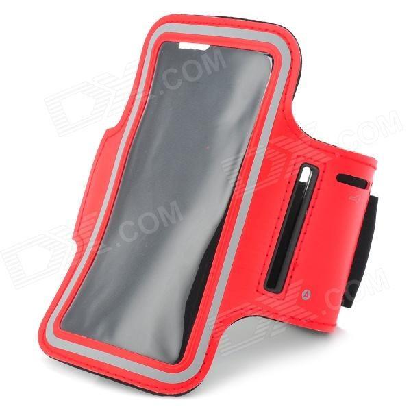 Sports Gym Nanometer Armband Case for Sony Xperia Z L36h C6603 - Red + Black + Grey