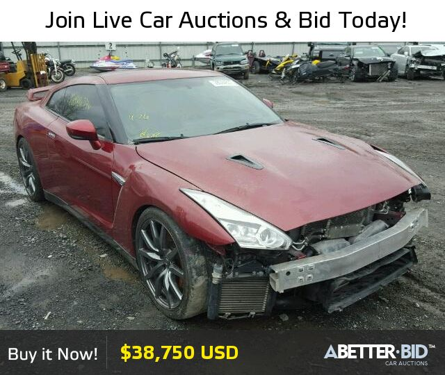 Salvage  2015 NISSAN GTR for Sale - JN1AR5EF3FM280649 - https://abetter.bid/en/28094637-2015-nissan-gt-r_premi