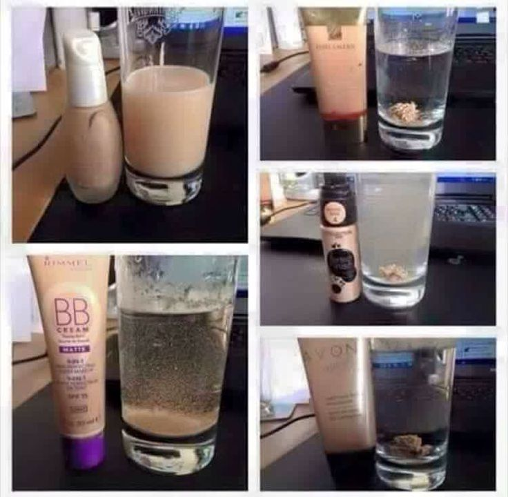 Foundation In Water Oil based foundations WILL NOT disperse in water and BLOCK your pores Water based foundations WILL disperse in water and DO NOT block your pores