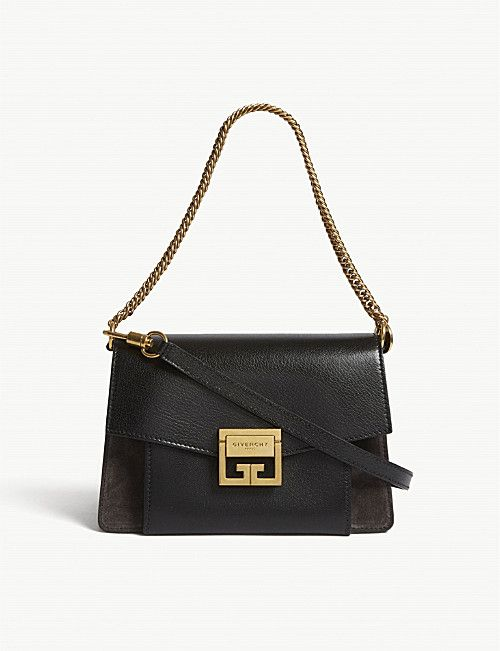 GIVENCHY GV3 leather and suede shoulder bag   Leather Shoulder Bags ... b945c9d2a34
