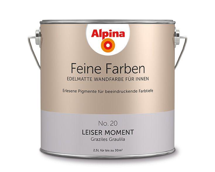 Alpina Feine Farben u201eLeiser Momentu201c Dieser kühle, leicht rauchige - wandfarben metallic farben