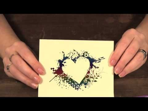 How to Make Quick Cards using Graphic Stock Images and Deco Foil - YouTube