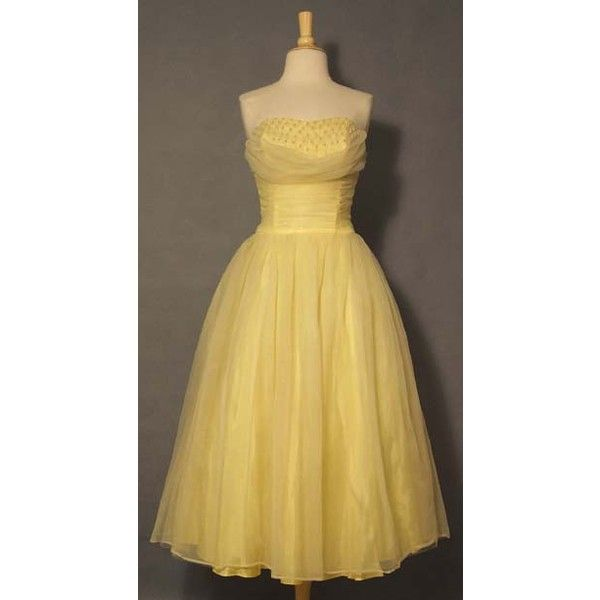 Yellow Prom Dresses ❤ liked on Polyvore featuring dresses, prom dresses, yellow prom dresses, yellow dress, beige prom dresses and beige dress