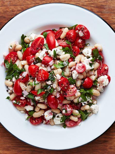 Tomato and Feta White Bean Salad