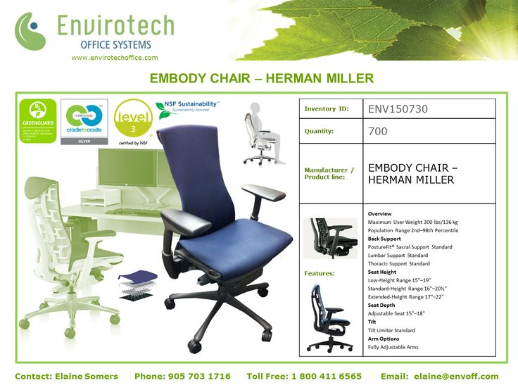 Herman Miller Embody Chairs available now!