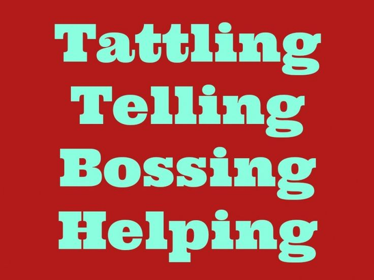 Tattling, telling, bossing, and helping - what is the difference between each and how to teach them to kids