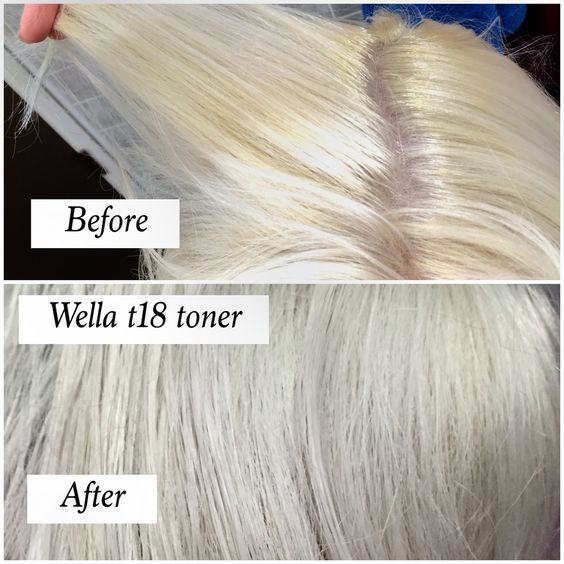 Wella T18 Toner With 30 Developer Before and after using t18 wella