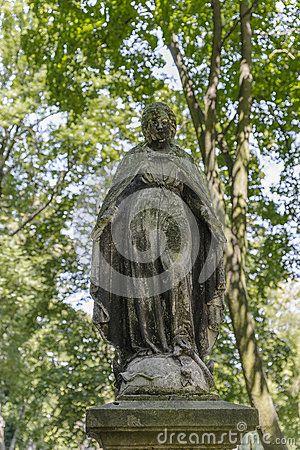 Mother of God on the Tomb in Rakowicki cemetary in Krakow.