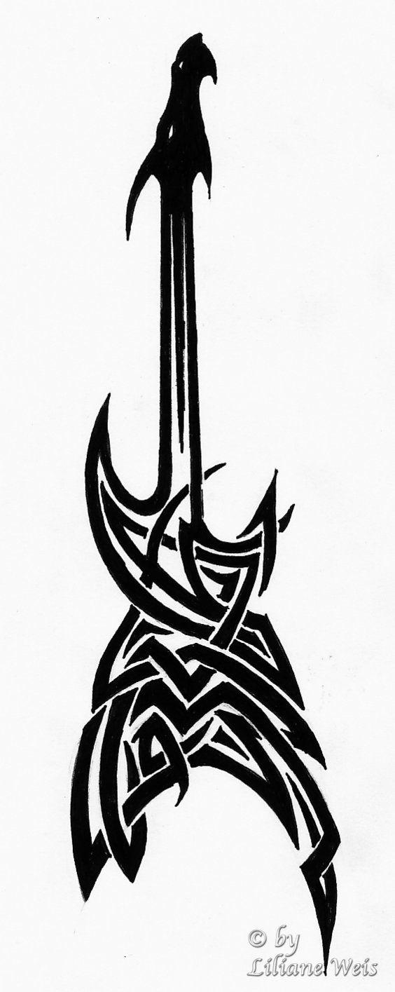 guitar dragon tattoo by ~Likawei on deviantART